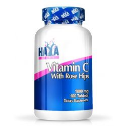 Vitamina C con Escaramujos de Alto Grado 1000mg - 100 tabletas [Haya Labs]