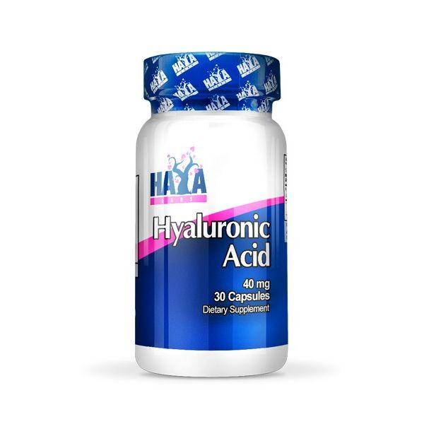 Ácido Hialurónico 40mg - 30 cápsulas [Haya Labs]