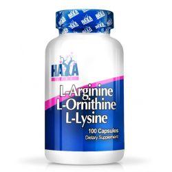 L-Arginina, L-Ornitina, L-Lisina - 100 cápsulas [Haya Labs]