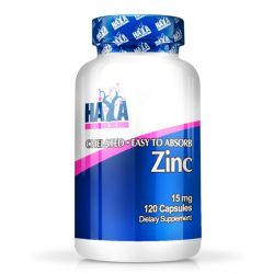 Zinc 15mg - 120 cápsulas [Haya Labs]