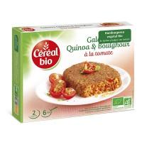 Hamburguesa vegetal de quinoa y bulgur con tomate - 200g [cerealbio]