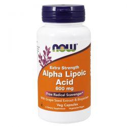 Ácido Alfa Lipóico 600mg - 120 cápsulas vegetales [now foods]