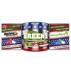 Pack digepro (digezyme 60 caps + greens 150g + megaflora 60 caps)