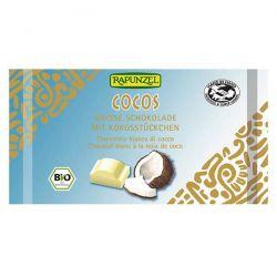 Snack de chocolate blanco con coco rapunzel - 100g [biocop]