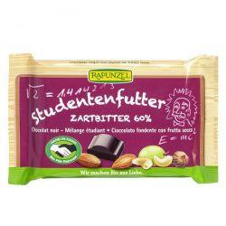 Snack de chocolate negro 60% con frutos secos rapunzel - 100g [biocop]