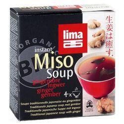 Sopa de miso instant con jengibre lima - 4 x 15g [biocop]