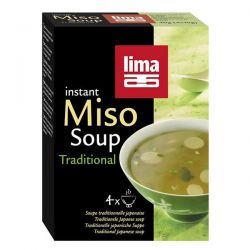 Sopa de miso instant tradicional  lima - 4 x 10g [biocop]
