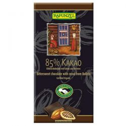 Chocolate tablet 85% cocoa rapunzel - 80g