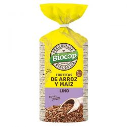 Tortita de arroz, maíz y semillas de lino - 200g [biocop]
