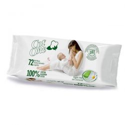Toallitas húmedas 100% algodón Cot-One - 72 unidades [biocop]