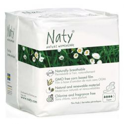 Compresas con alas Super naty - 13 units [biocop]