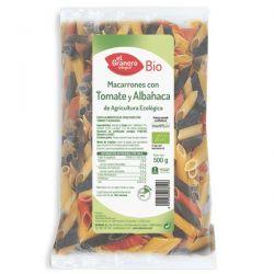 macarrones con tomate y albahaca bio. 500 g