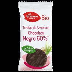 Tortitas de Arroz con Chocolate Negro Bio - 6 Unidades [Granero]