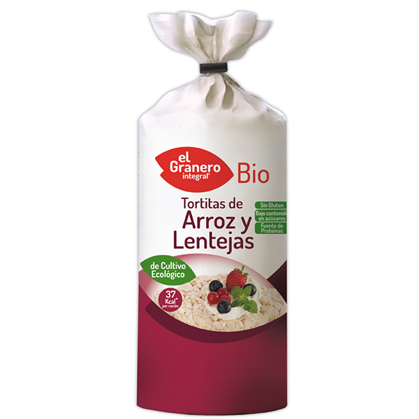 Tortitas de Arroz y Lentejas Bio - 115 g [Granero]