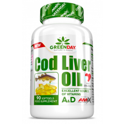 Aceite de Hígado de Bacalao (Cod Liver Oil) - 90 cápsulas [Amix Green Series]