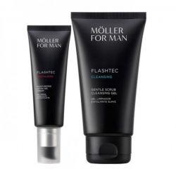 Anne Moller For Man Flashtec Detox Gel Cream 50ml Set 2 Piezas