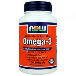 NOW Omega-3 1000 mg - 200 comprimidos