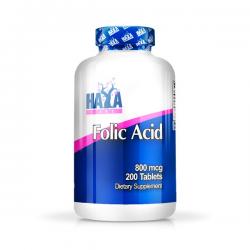 Ácido Fólico 800mcg - 200 tabletas [haya labs]
