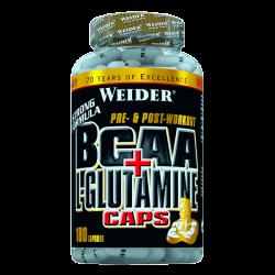 BCAA + L-Glutamina - 180 Cápsulas