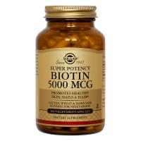 Biotina 5000mcg - 100 cápsulas vegetales [Solgar]