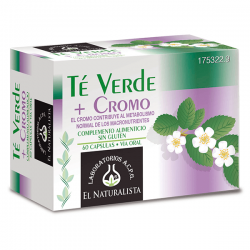 Green tea + chrome - 60 capsules