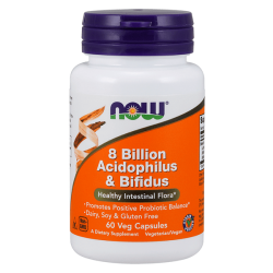 8 Mil Millones de Acidophilus y Bifidus Cápsulas Vegetales [Nowfoods]