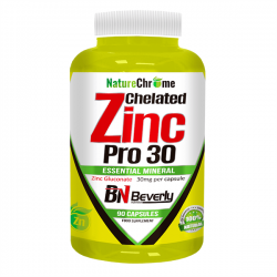 Chelated Zinc Pro 30 - 90 cápsulas [Beverly]