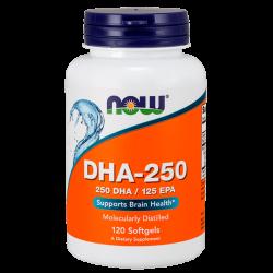 DHA 250mg - 120 Softgels [Nowfoods]