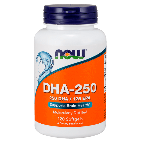 DHA 250mg - 120 Softgels [Nowfoods]