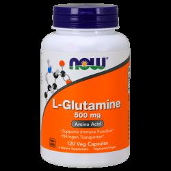 L-Glutamina 500mg - 120 Cápsulas [Nowfoods]