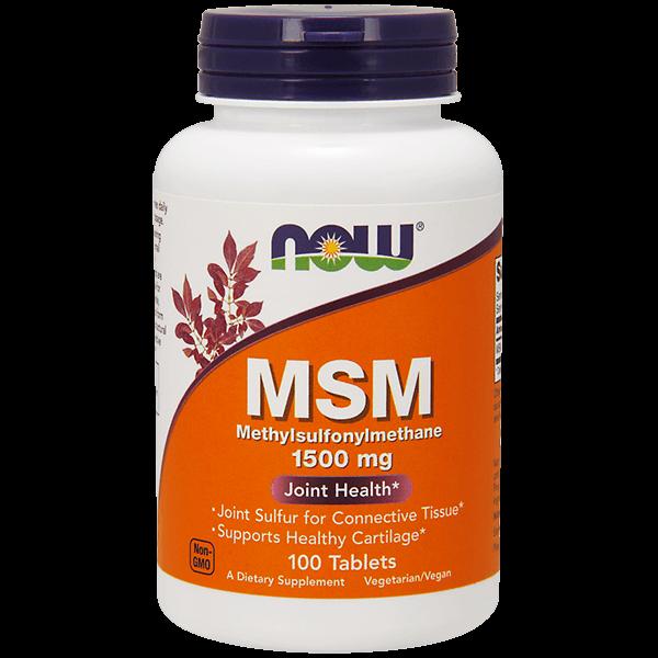 MSM 1500mg - 100 Tabletas [Nowfoods]