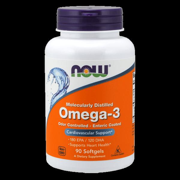 Omega-3 Destilado Molecularmente - 90 Softgels [Nowfoods]