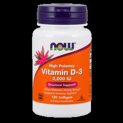 Vitamina D-3 2000 IU - 120 Softgels [Nowfoods]