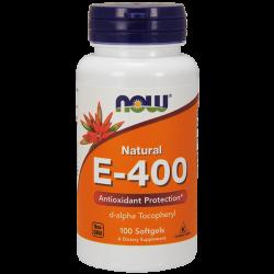 Vitamina E-400 IU D-Alfa - 100 Softgels [Nowfoods]