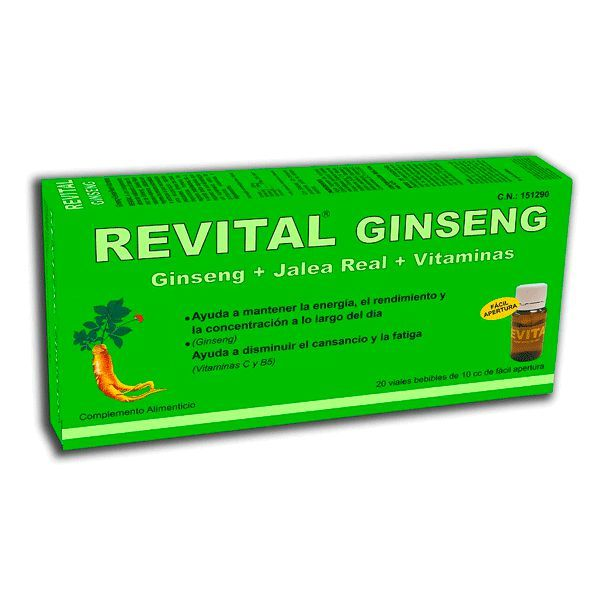 Revital Ginseng - 10ml x 20 viales [Pharma OTC]