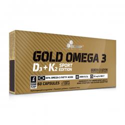 Gold Omega 3 D3+K2 Sport Edition - 60 cápsulas [Olimp Sport]
