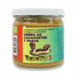 Crema de Cacahuetes y Pasas - 330g [Monki]
