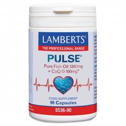 PULSE (pure fish oil 1300mg+coq10 100mg) - 90 Cápsulas [Lamberts]