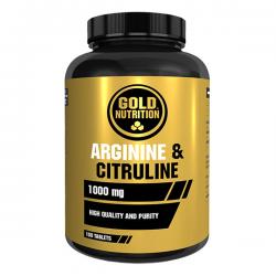 Arginina y Citrulina 1000mg - 100 tabletas [Gold Nutrition]