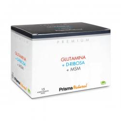 Glutamina + D-Ribosa + MSM - 15 sobres duplo [Prisma]
