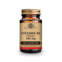 Vitamina B1 100mg (Tiamina) - 100 Cápsulas [Solgar]