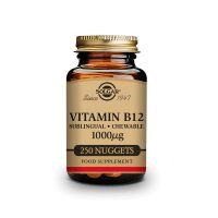 Vitamina B12 1000mg (Cianocobalamina) - 250 Comprimidos sublinguales - masticables [Solgar]