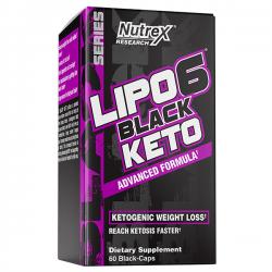 Lipo 6 black keto - 60 capsules