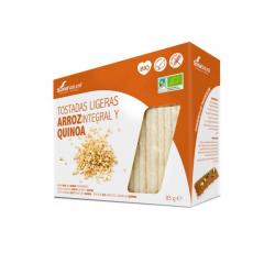 Tostadas ligeras de Arroz Integral y Quinoa Bio - 85g [Soria Natural]