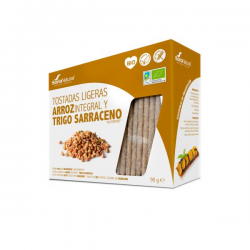 Tostadas Ligeras de Arroz Integral y Trigo Sarraceno Bio - 90g [Soria Natural]