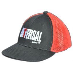 mesh hat black red
