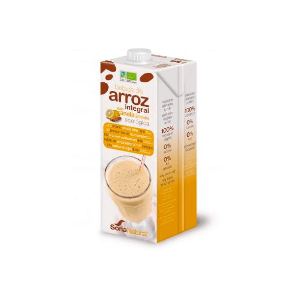 Bebida de Arroz Integral con Canela al Limón - Pack 3x1L [Soria Natural]