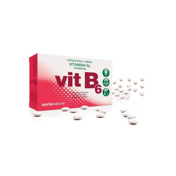 Vitamina B6 - 48 Tabletas [Soria Natural]