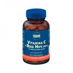 Vitamina C con Rose hips - 100 Tabletas [GSN]