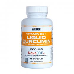 Liquid Curcumin + Vitamina D3 - 90 Cápsulas